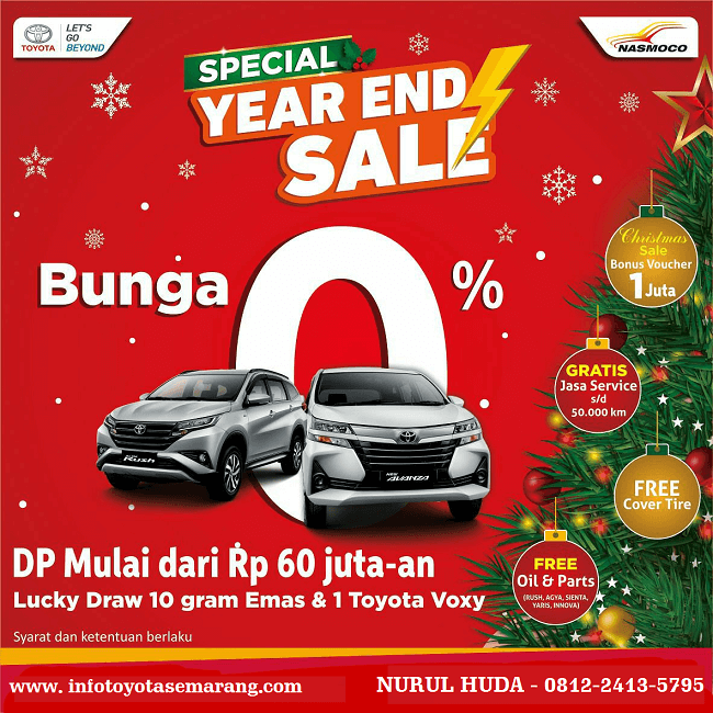Spesial Promo Year End Sale Beli Mobil Bunga Rendah Di Toyota Semarang